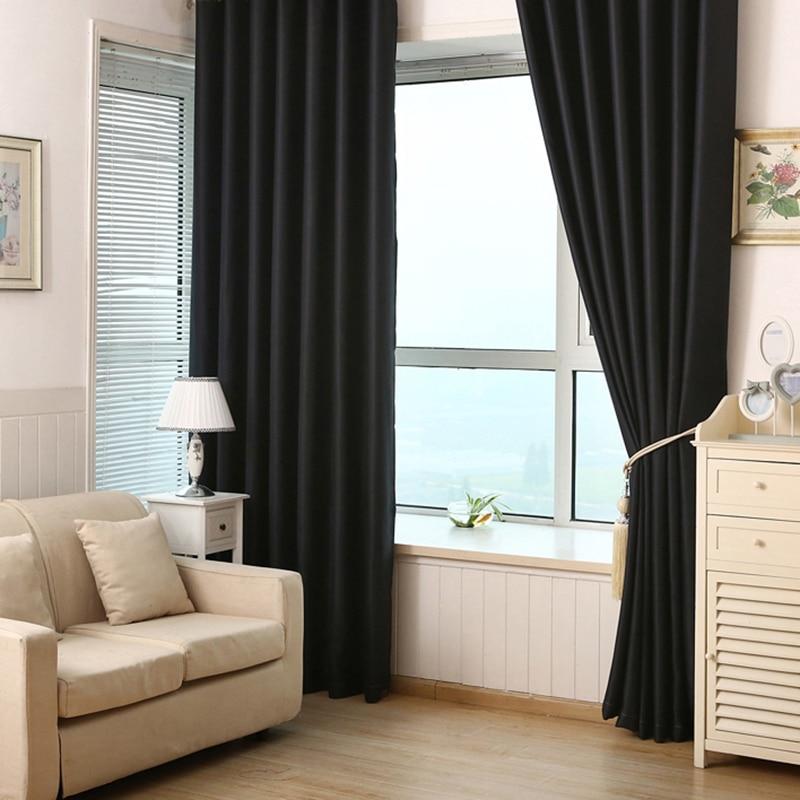 Elegant Neues Einfaches Muster Moderne Polyester Faser Einfarbig Blackout Fenster  Vorhänge Für Schlafzimmer Wohnzimmer Vorhang #236297 In Neues Einfaches  Muster ...