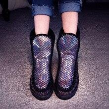 Véritable Cuir Chaud naturel De Fourrure Femmes bottes de neige plat plate-forme bottes D'hiver Dames cheville bottes Australiennes(China (Mainland))
