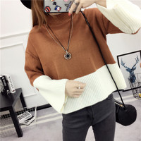 Short Sleeve Head Woman Korean Autumn And Winter Thickness High Spelling Color Unlined Clothing Suit Dress