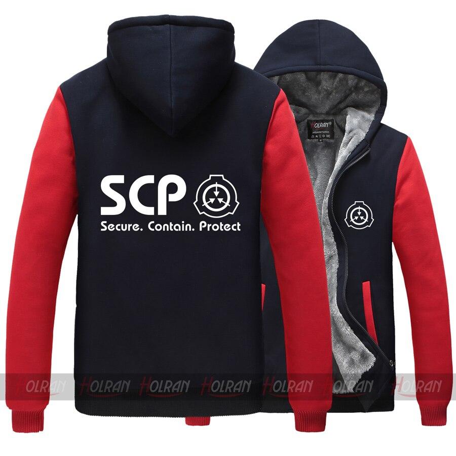 SCP Spécial de Contenant Procédures Fondation Super naturel épaississent à capuche veste manteau