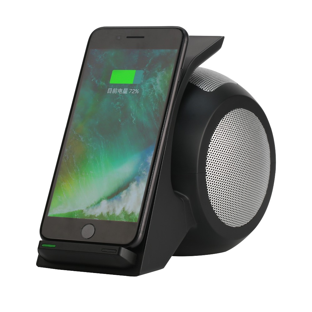 Qi Ladestation Us 58 99 New Wireless Charging Handyhalter Mit Nfc Subwoofer Funktion Für Iphone 5 6 7 Plus Qi Ladestation Bluetooth 4 Lautsprecher In New