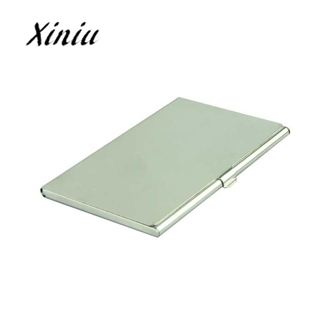 business id credit card holder for women men voberry silver business card holder flip style - Silver Business Card Holder