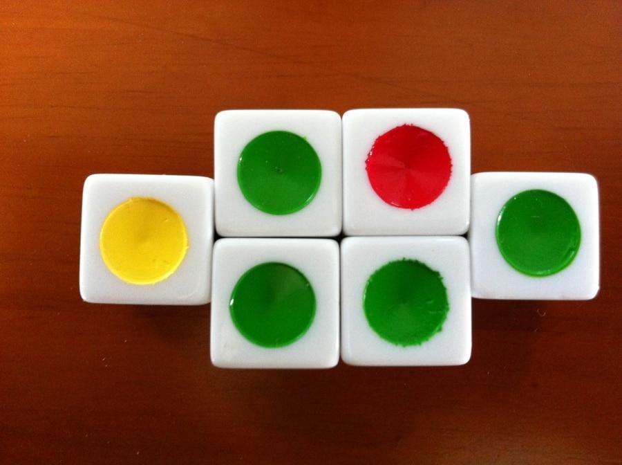 16 # Big Circle Würfel / Lernspiel Würfel / Camescreeching Würfel 16 Big Circle Bosons Ampel Farbe ist ein guter Helfer