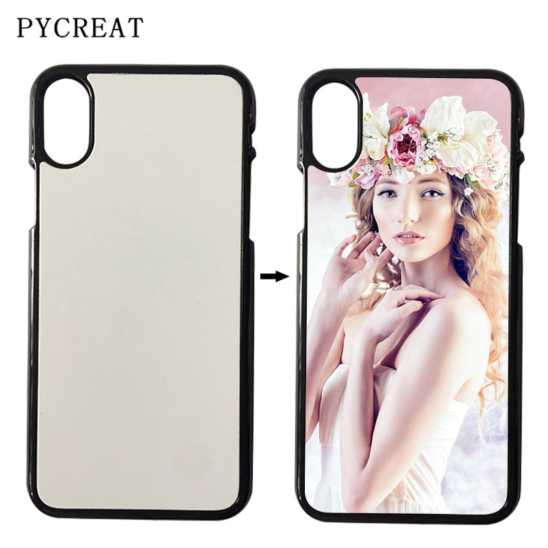 PC Coque For iPhone X Case 2D Sublimation DIY Hard Plastic Blank Phone Cover Housing For