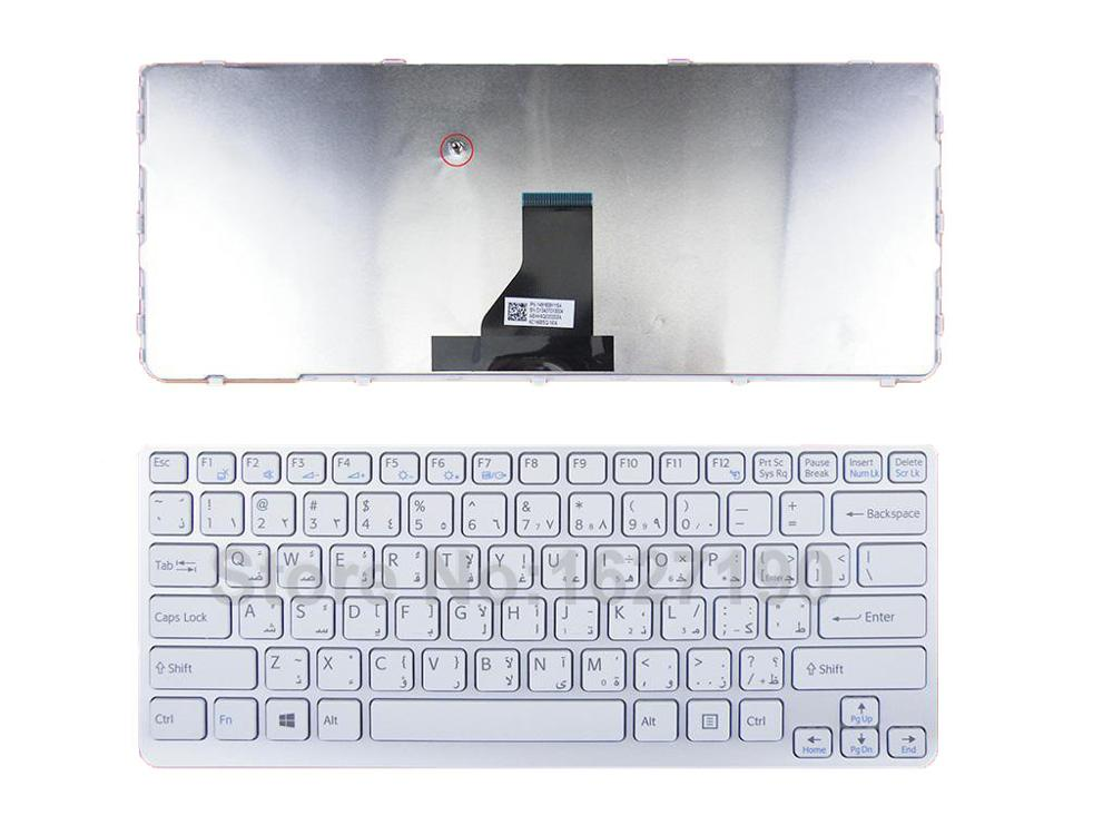 100% NEW Arabia/AR layout/Letter Laptop Keyboard For SONY SVE14 WHITE FRAME WHITE(For Win8) Laptop Computer Keyboards ...