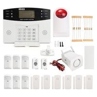 Qualità durevole NUOVO LCD Wireless GSM Composizione Automatica Per La Casa Casa Ufficio Scassinatore di Sicurezza Antintrusione Allarme DC12V 500mA