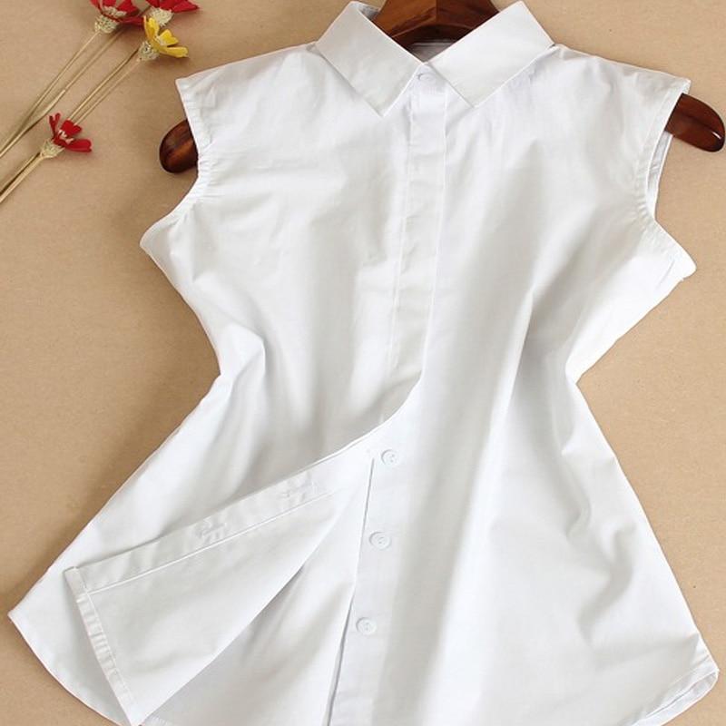 Sharp Shirt Female Bead Turn Down Detachable Collar Slender Chiffon Women's Sleeveless Shirt Collar Office Lady Love Collar