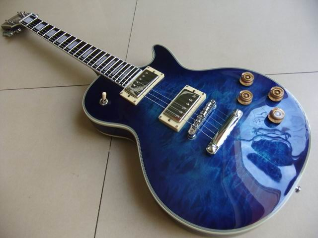 Wholesale Cnbald G Standard Electric Guitar LP Mahogany Body/Neck In Blue Burst 110820 customised electric guitar lp model with floyd black mahogany body and neck high grade build in customer specs way