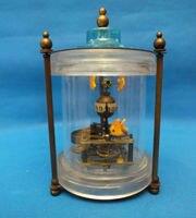 Rare brass Fish Mechanical Table Clock Decorations /1