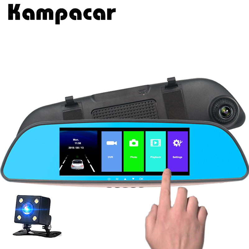 Kampacar Car DVR Full HD 1080P Auto Camera For Car Recording Rear View Mirror Video Recorder