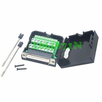 цена на Hot Factory Direct Wholesale  DB25 D-SUB jack 26PIN port Terminal breakout PCB plastic cover solderless screw