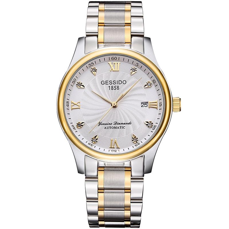 Men's Watch Brand Fashion Steel Waterproof Automatic Mechanical Calendar Men's Watch Horloges Mannen Relogio Masculino Dropship