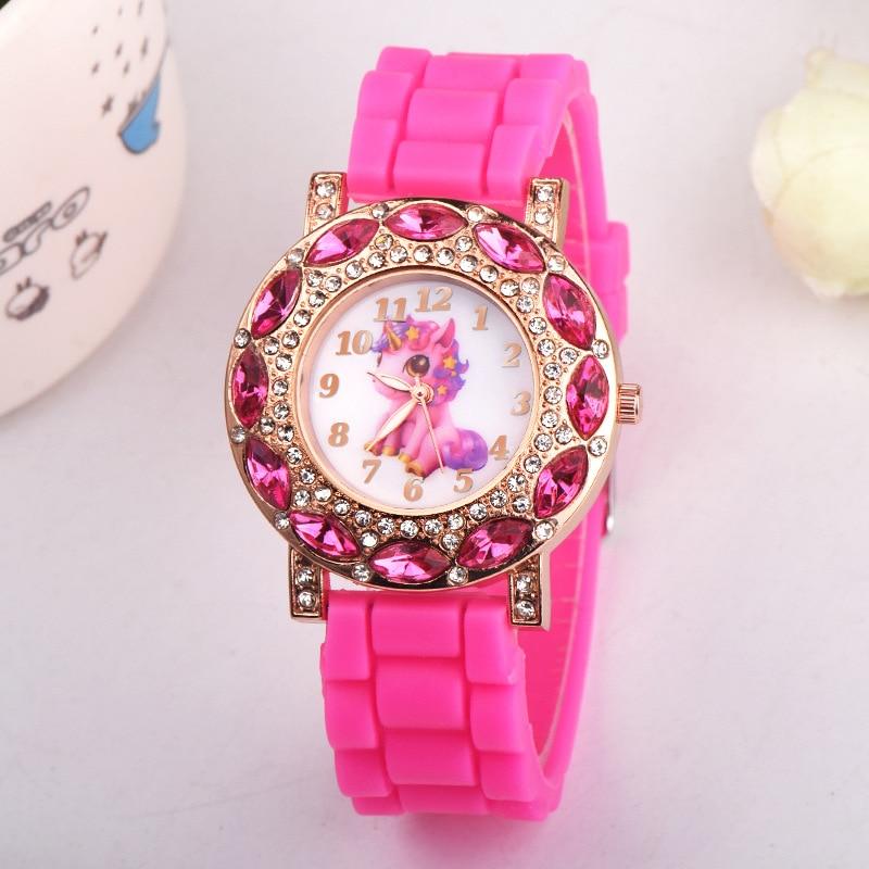 20pcs New Fashion Cute Harajuku Pink Unicorn Girl s Children Watch SportS Jelly Watch Women HOT