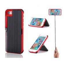 Bluetooth алюминиевая палка для селфи выдвижные телефонные чехлы для iPhone 7 8 Plus X XS Держатели и подставки пульт дистанционного управления задняя крышка