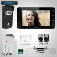 HOMSECUR 7 Video Door Entry Phone Call System Electric Strike Lock Set Included TC021 B + TM703 B