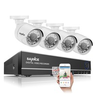 SANNCE 4CH 720P CCTV Security System 4IN1 1080N DVR 4pcs 720P 1 0MP Metal Surveillance Camera
