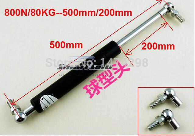 2pcs free shipping 80KG/800N force 500mm central distance, 200mm stroke, pneumatic Auto Gas Spring, Shock absorber shock absorber ad2580 absorber buffer bumper free shipping