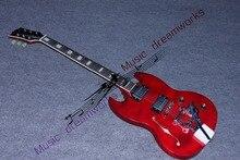 China's gitarre OEM Kostenloser Versand SG E-gitarre Freies Verschiffen Jazz wippe Tremolo system