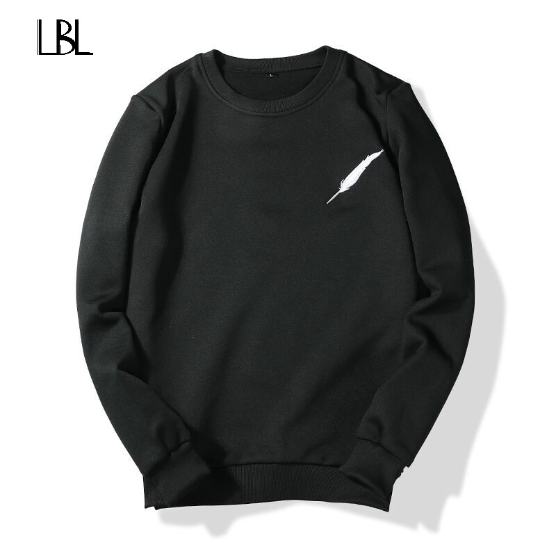 Autumn Winter Men Sweatshirt Mens Hoodies Fashion Hip Hop Style Long Sleeve Solid Color Tracksuit Casual Funny Top Loose Brand