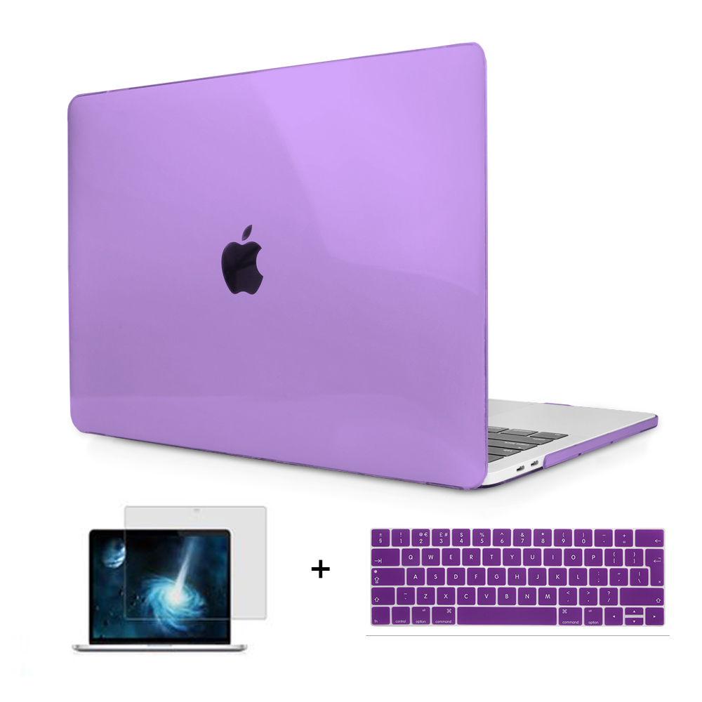 Logo See Through Crystal Hard Case Protect For Carcasa Macbook Retina Pro 13 15 W/Out Touch Bar A1706 A1707 A1708 AIR 13 11 12