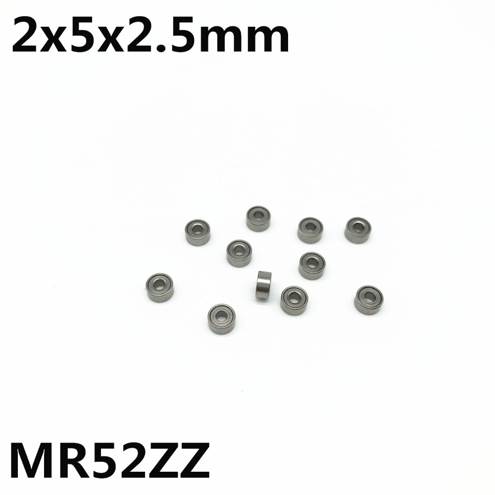 50Pcs MR52ZZ L-520ZZ 2x5x2.5 Mm Deep Groove Ball Bearing Miniature Bearings Model Toy MR52Z MR52 Advanced High Quality