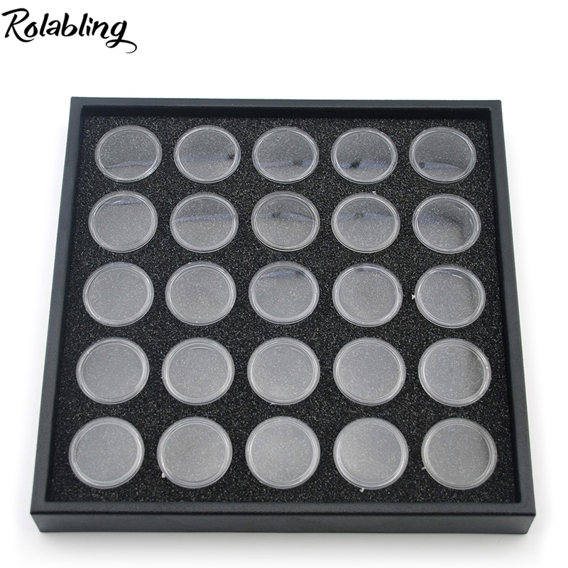 Rolabling 25 Pots Nail Art Display Box For Show Nail Rhinestones Decoration Manicure Tool Nail Empty Case Nail Display nail clipper cuticle nipper cutter stainless steel pedicure manicure scissor nail tool for trim dead skin cuticle