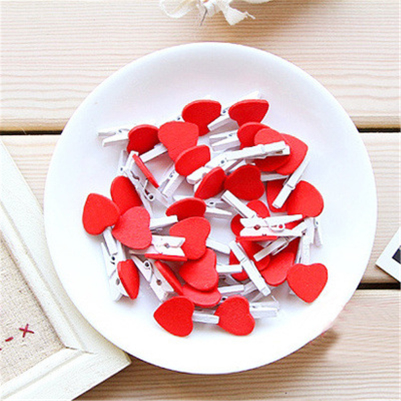 Ten Groups Of Heart-shaped Love Traps Chinese Version Heartwood Small Wooden DIY Wood Clip