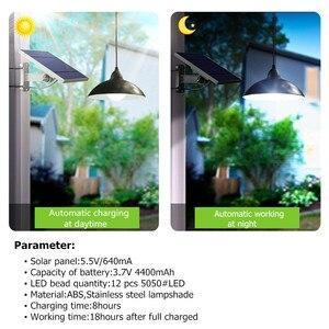 Image 2 - Lámpara Solar de araña con Control remoto bombilla LED Solar Retro, luz colgante de cable de 3 metros para lámpara de jardín al aire libre