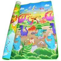 2 1 8m Double Side Baby Crawling Mat Dinosaur Zoo Puzzle Game Soft Floor Play Mats