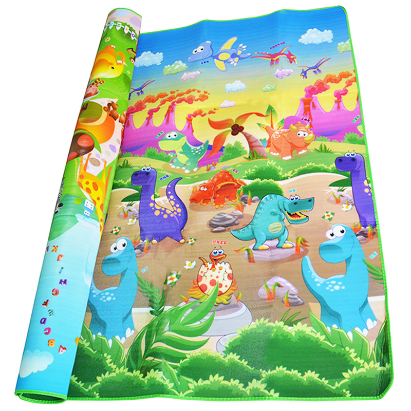 0 5cm Double Side Baby Crawling Play Mat Dinosaur Puzzle