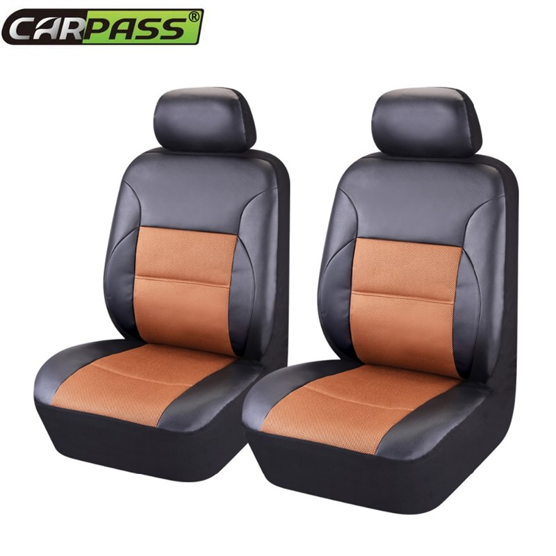 pu leather 2 front car seat covers universal fit most car seat cover auto interior decoration. Black Bedroom Furniture Sets. Home Design Ideas