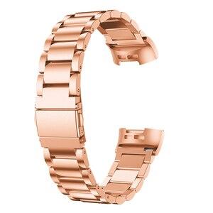 Image 4 - Fitbit şarj için 3 bant paslanmaz çelik saat kayışı Fitbit şarj için 3 saat kayışı Metal WatchBand kayış bilek saatler bilezik