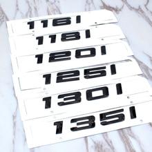 116i 118i 120i 125i 130i 135i car rear boot emblems number letter badge styling For BMW 1 Series E81 E82 E87 E88 F20 F21 emblem
