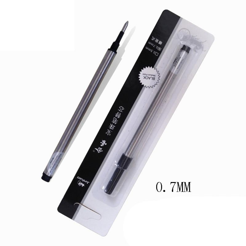 5 шт. Jinhao винтовой Тип заправки для шариковой ручки 0,7 мм черный синий выбор