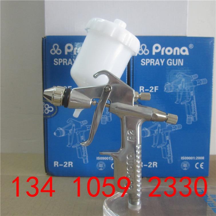 Prona R2-F R2-R Mini Manual Paint Spray Gun, Small Area Repair Painting,0.3 0.5 0.8 1.0mm Nozzle