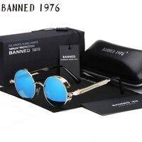 2017 Retro Round Metal Punk Steampunk Sunglasses For Women Men Vintage Mirror Sun Glasses Oculos De