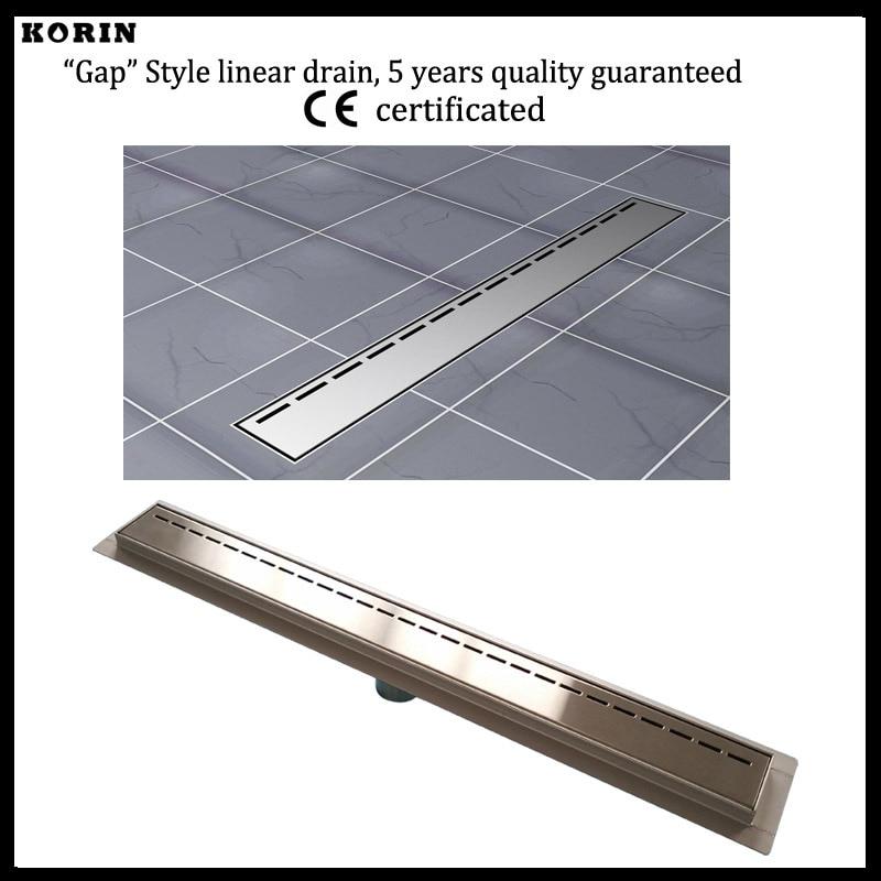 """Здесь продается  800mm """"Gap"""" Style Stainless Steel 304 Linear Shower Drain, Vertical Shower Drain with flange, Floor Waste, long floor drain  Строительство и Недвижимость"""