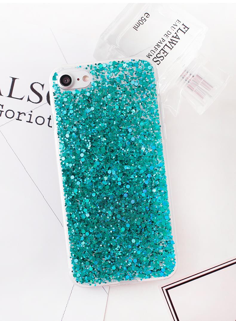 HTB1HhSGajDuK1Rjy1zjq6zraFXaw - Gurioo Silicone Bling Glitter Crystal Sequins Hard shell Phone Case For iPhone 11 5 SE 6 6S 7 8 X Plus XR XS Max Protective Case