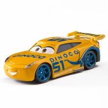 Disney Pixar Cars 3 Cruz Ramirez  Lightning McQueen Mater Jackson Storm 1:55 Diecast Metal Alloy Model Toy Car Kid Gift Boy Toy disney pixar cars 3 new lightning mcqueen jackson storm cruz ramirez diecast alloy car model children s day gift toy for kid boy