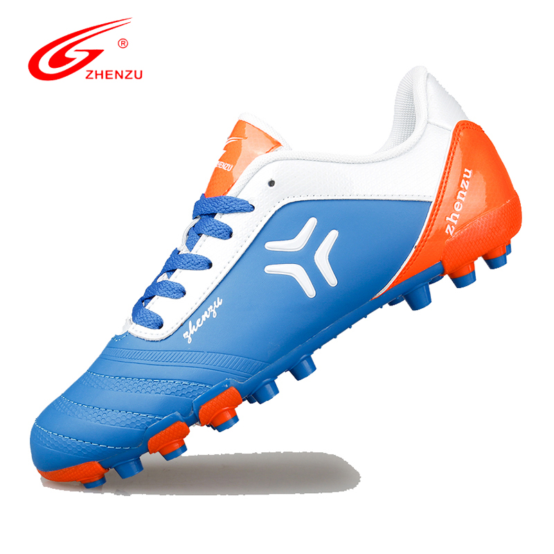 ZHENZU Men Teenagers Soccer Cleats AG Football Shoes Artificial Ground Training Shoes Athletic Boot Botas Futbol , Size 36-44 leoci new men kids football boots ag soccer shoes boys adult artificial grass ground soccer cleats botas de futbol size 33 44