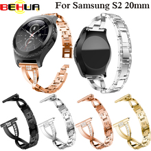 20mm Fashion style Watchband for Samsung Galaxy Watch 42mm SM-R810 Women Band Wrist Strap Stainless Steel Bracelet Wristband milanese loop watchband 20mm 22mm for samsung galaxy watch 42mm 46mm r810 r800 magnet band stainless steel strap wrist bracelet