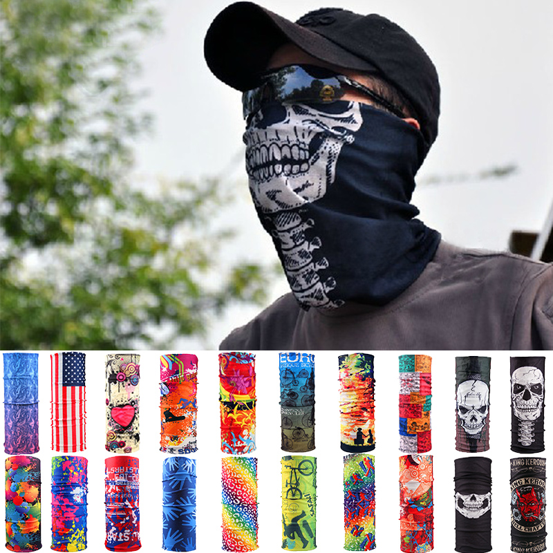Fashion Motorcycle Cycling Tube Scarf Headband Women Men Multicolor Magic Head Face Mask Neck Gaiter Snood Headwear