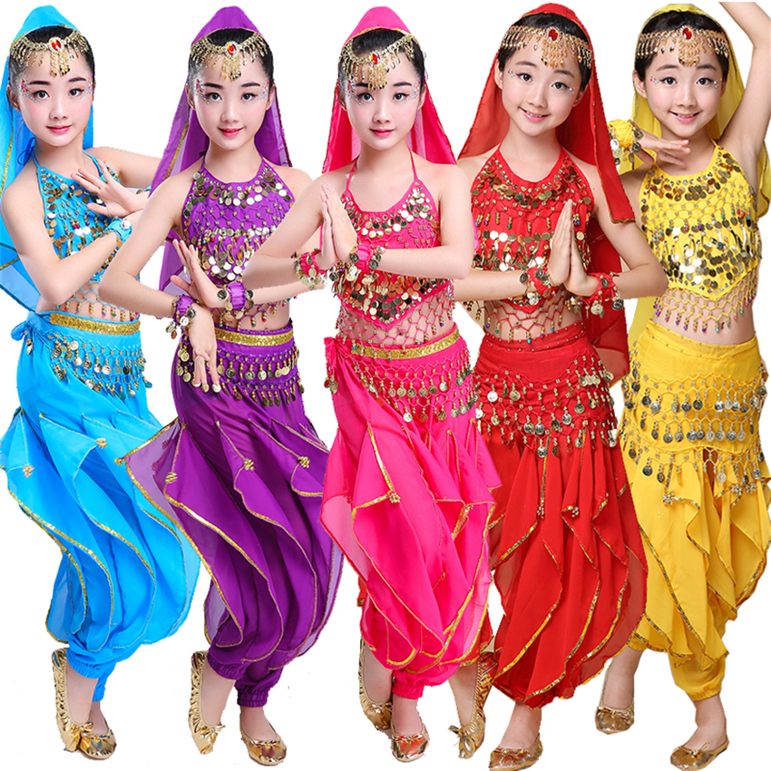 10Style Girls Children Belly Dance Costume Set Kids Belly Dancing Indian Teaching Team Bellydance Performance Dancewear Clothing