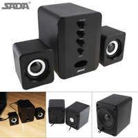 Altavoces de ordenador estéreo 3D de gama completa SADA altavoces portátiles Subwoofer altavoz de PC pequeño DJ sonido de combinación USB para teléfono TV
