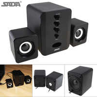 SADA Full Range 3D Stereo Computer Speakers Subwoofer Portable Speakers Small PC Speaker DJ USB Combination Sound for Phone TV