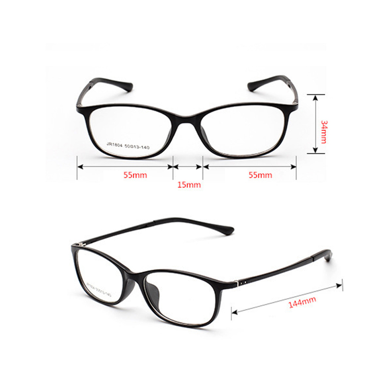 TR90 Marco de Los Vidrios Ópticos Mujeres Eyeglasess Claras Gafas de ...