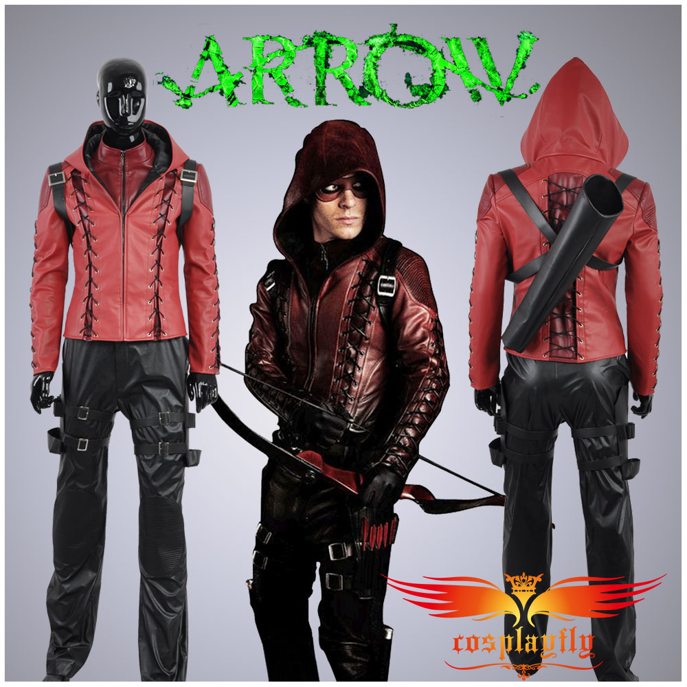 HOT Green Arrow Season 3 Arsenal Roy Harper Battleframe Cosplay Costume (W0559)