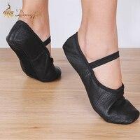 Dongjak En Fonction Le CM À Acheter Ballet Chaussures Toile Plat pantoufles Rose Noir salsa Ballet Chaussures de danse Pour Les Filles Enfants femme