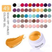 hot deal buy harunouta 49 colors gel uv nail gel soak off purple red nail art led glitter nail lacquer diy paint gel uv gel nail polishes