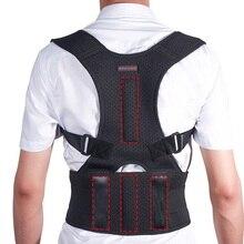 Men Women Back Shoulder Brace Upright Posture Corrector Kyphosis Spine Correction Fixer Back Support Belt Lumbar Corset Dropship